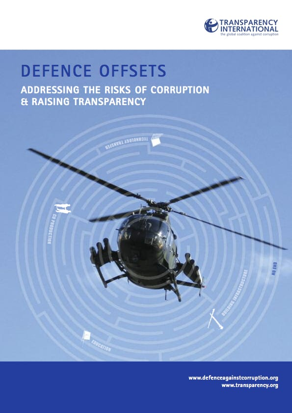 PDF cover of Defence offsets: Addressing the risks of corruption & raising transparency