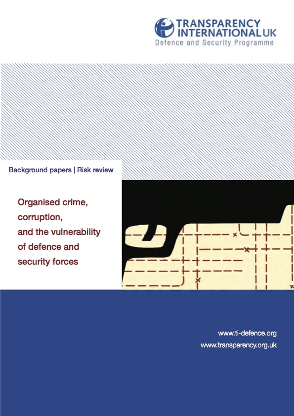 PDF cover of Organised crime, corruption and the vulnerability of defence and security forces