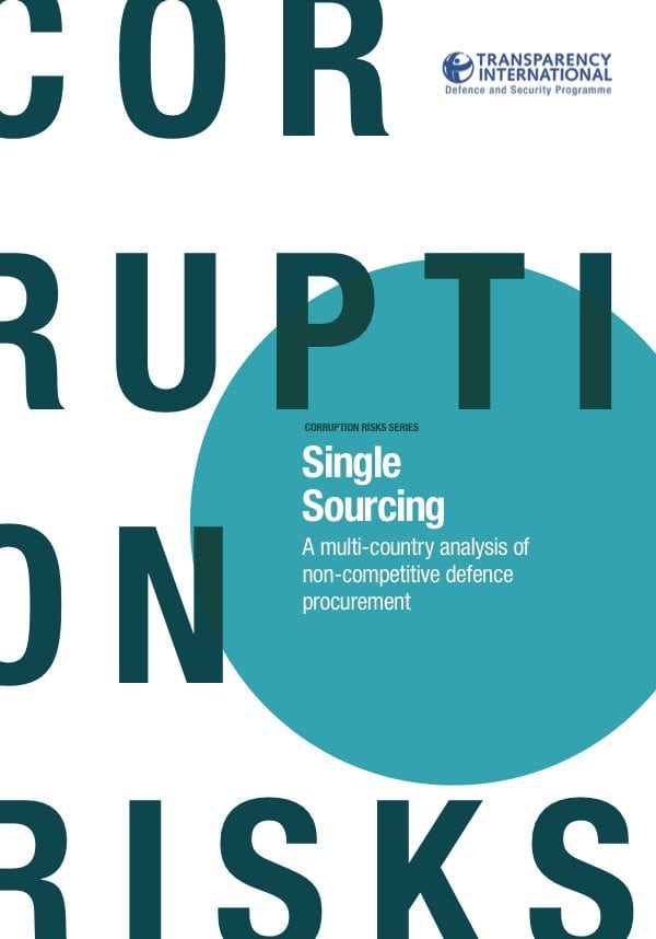 PDF cover of Single Sourcing: A multi-country analysis of non-competitive defence procurement