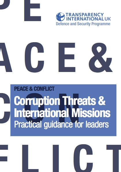 PDF cover of Corruption Threats & International Missions: Practical guidance for leaders