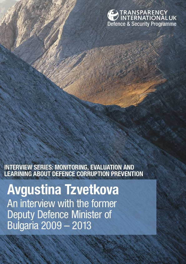 PDF cover of Avgustina Tzvetkova: An interview with the Deputy Defence Minister of Bulgaria 2009 – 2013