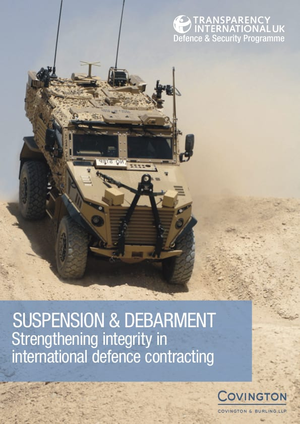 PDF cover of Suspension & Debarment: Strengthening integrity in international defence contracting