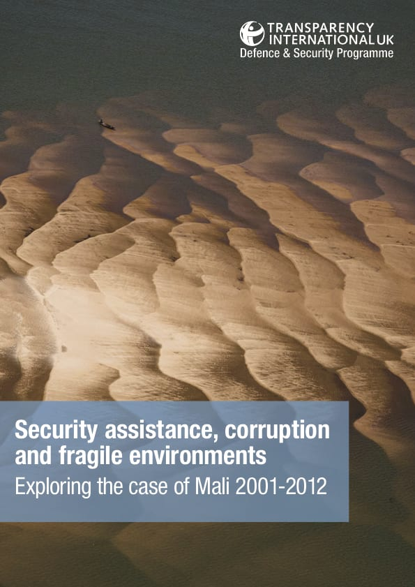 PDF cover of Security assistance, corruption and fragile environments: Exploring the case of Mali 2001-2012
