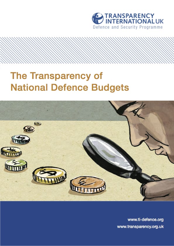 PDF cover of The transparency of national defence budgets