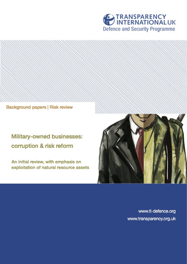 PDF cover of Military-owned businesses: Corruption risk & reform