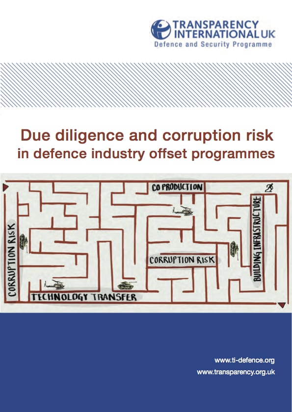 PDF cover of Due diligence and corruption risk in defence industry offsets programmes