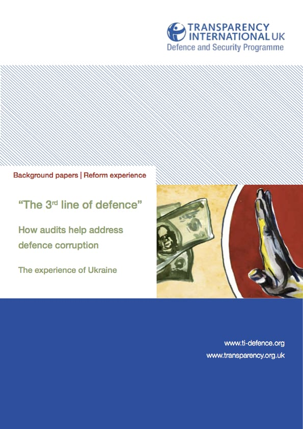 PDF cover of The 3rd line of defence: How audits can help address defence corruption