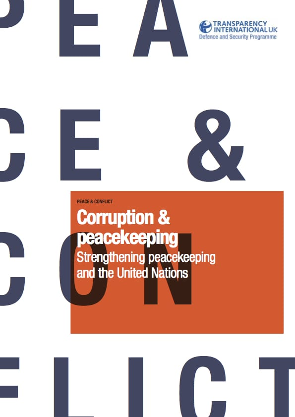 PDF cover of Corruption & peacekeeping: Strengthening peacekeeping and the UN