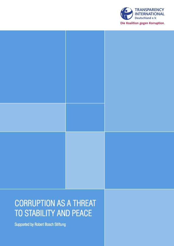 PDF cover of Corruption as a threat to stability and peace