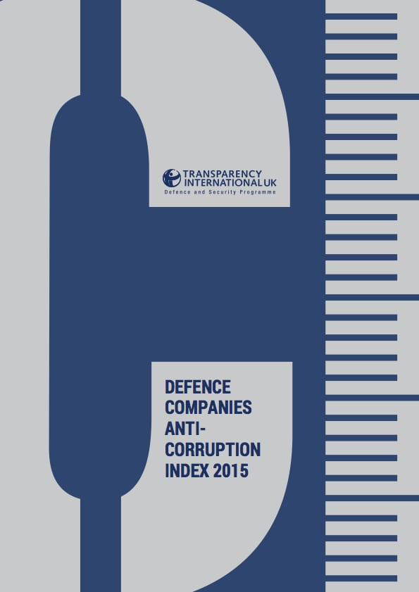 PDF cover of Defence Companies Anti-Corruption Index 2015
