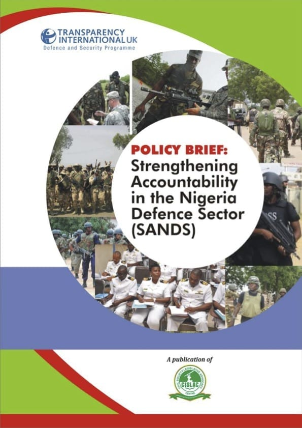 PDF cover of Policy Brief: Strengthening Accountability in the Nigeria Defence Sector