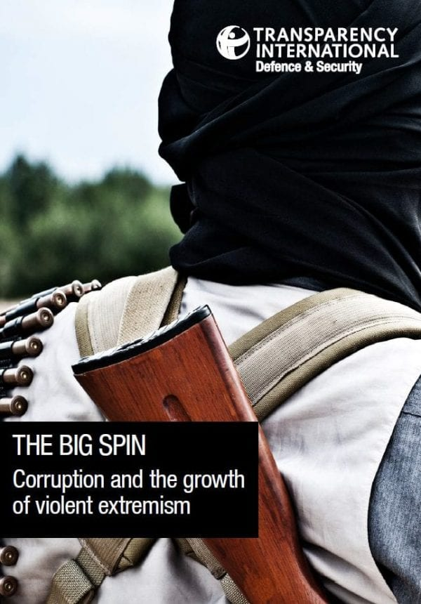 PDF cover of The Big Spin: Corruption and the growth of violent extremism