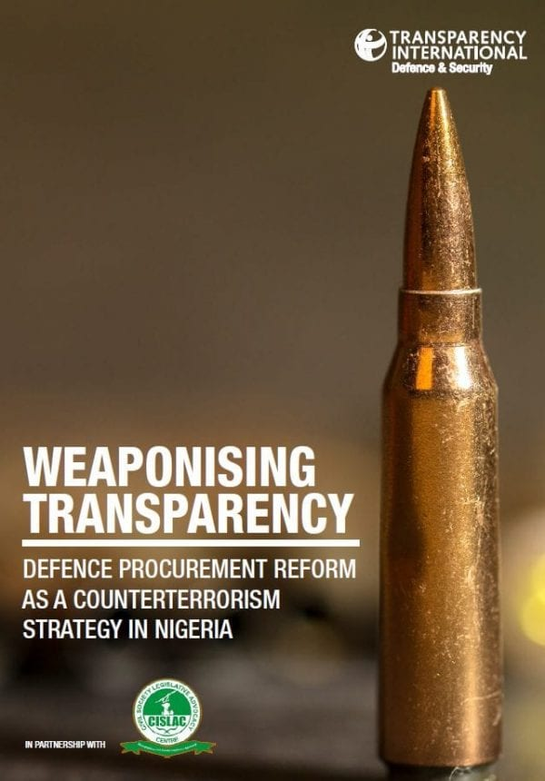 PDF cover of Weaponising Transparency: Defence Procurement Reform as a Counterterrorism Strategy in Nigeria
