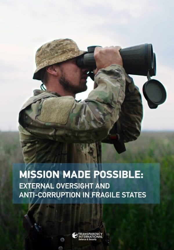 PDF cover of Mission Made Possible: External Oversight and Anti-Corruption in Fragile States