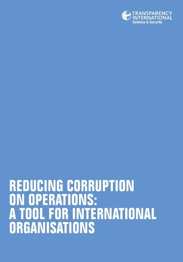 PDF cover of Reducing Corruption on Operations: A Tool for International Organisations