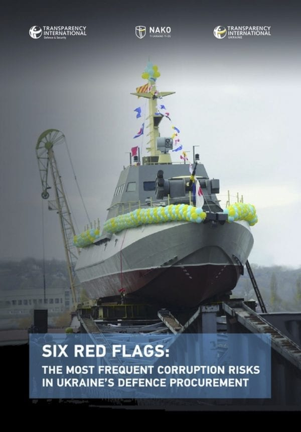 PDF cover of Six Red Flags: The Most Frequent Corruption Risks in Ukraine's Defence Procurement