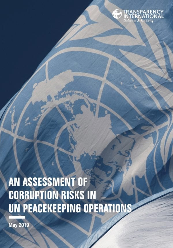 PDF cover of An Assessment of Corruption Risks in UN Peacekeeping Operations