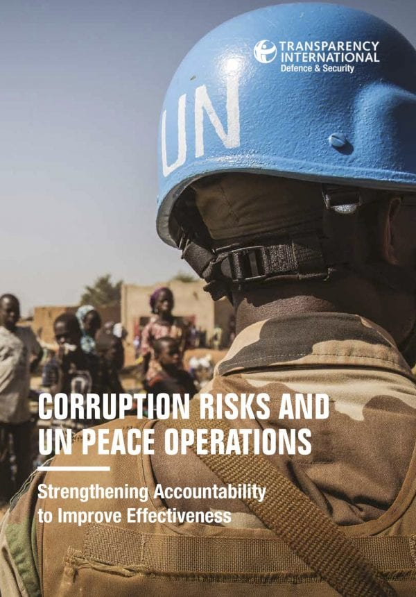 PDF cover of Corruption Risks and UN Peace Operations