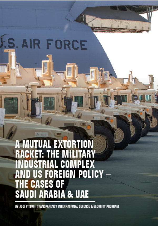 PDF cover of A Mutual Extortion Racket: The Military Industrial Complex and US Foreign Policy – The Cases of Saudi Arabia & UAE