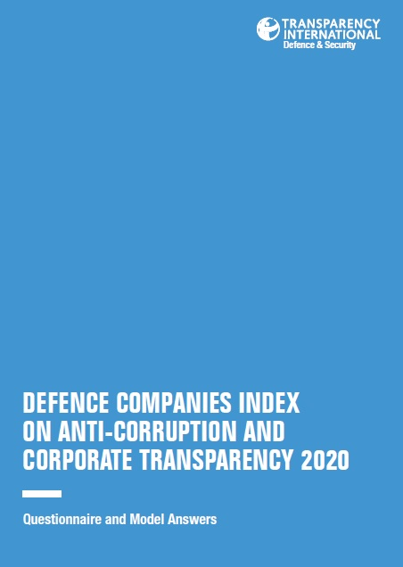 PDF cover of Defence Companies Index on Anti-Corruption and Corporate Transparency 2020: Questionnaire and Model Answers