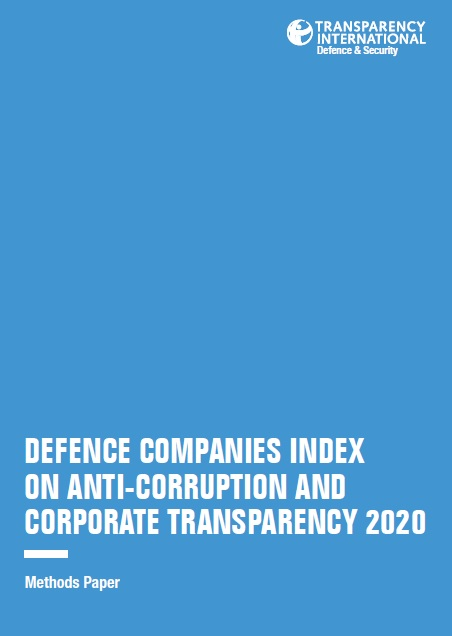 PDF cover of Defence Companies Index on Anti-Corruption and Corporate Transparency 2020: Methods Paper