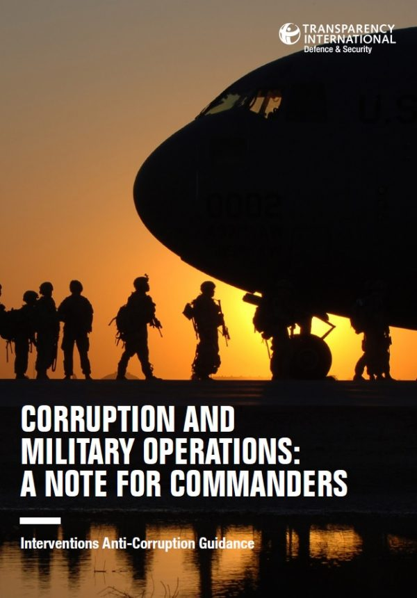 PDF cover of Corruption and Military Operations: A Note for Commanders