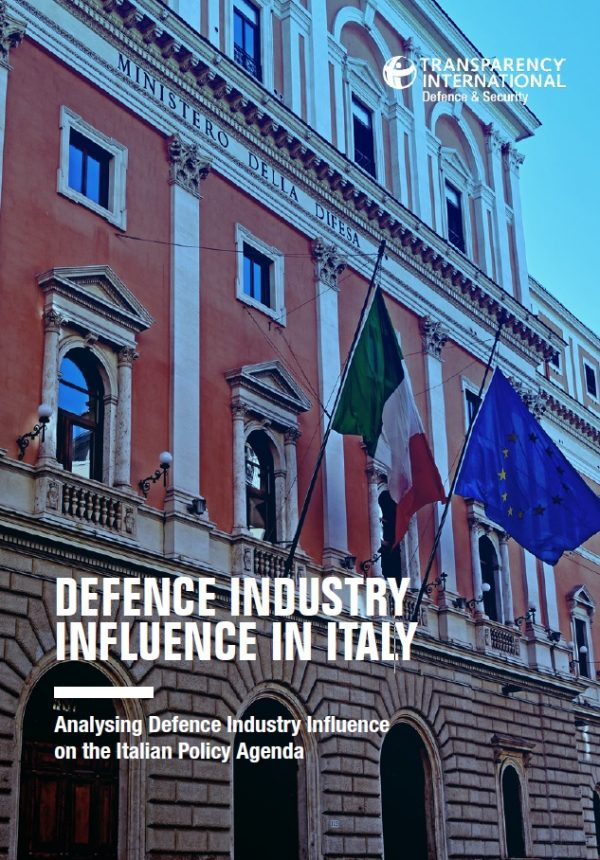 PDF cover of Defence industry influence in Italy: Analysing defence industry influence on the Italian policy agenda