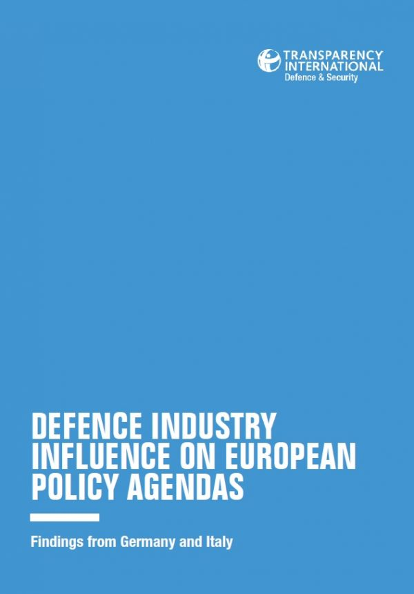 PDF cover of Defence Industry Influence on European Policy Agendas: Findings from Germany and Italy