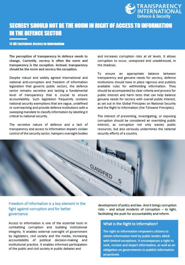PDF cover of TI-DS Factsheet: Access to Information